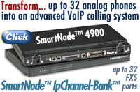 TRANSFORM... up to 32 analog phones into an advanced VoIP-calling system. 